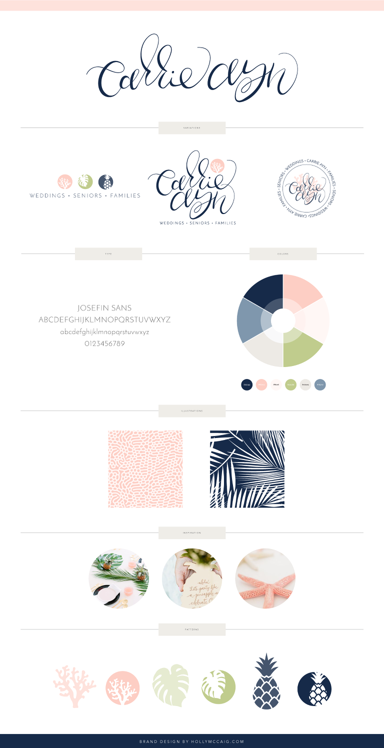 Carrie Ayn; Branding Board; Holly McCaig; Holly McCaig Creative